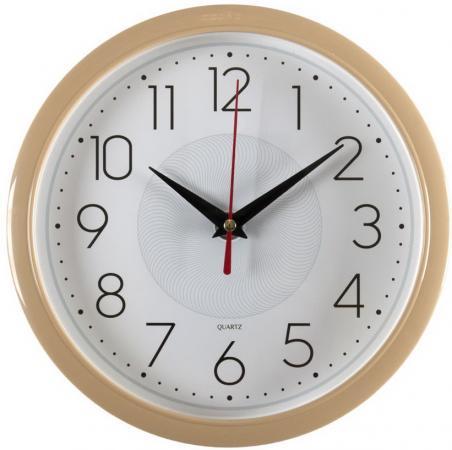 Часы настенные аналоговые Бюрократ WALLC-R83P D22см белый/бежевый