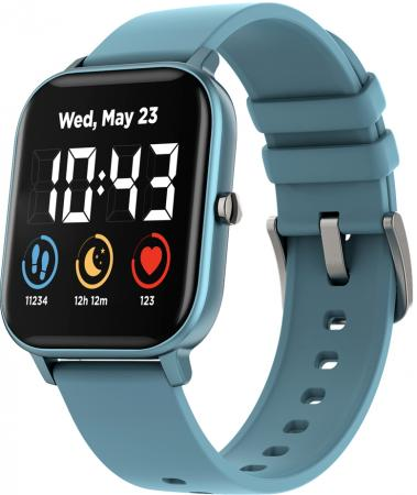 CANYON Wildberry SW-74 Smart watch, 1.3inches TFT full touch screen, Zinc plastic body, IP67 waterproof, multi-sport mode, compatibility with iOS and android, blue body silicon belt, Host: 43*37*9mm, Strap: 230x20mm, 45g