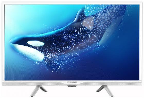 Фото - Телевизор LED Hyundai 24 H-LED24FS5020 белый/HD READY/60Hz/DVB-T/DVB-T2/DVB-C/DVB-S2/USB/WiFi/Smart TV (RUS) телевизор hyundai h led32et3001 32 hd ready