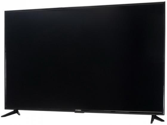 Фото - Телевизор LED Hyundai 65 H-LED65EU1311 Яндекс черный/Ultra HD/60Hz/DVB-T/DVB-T2/DVB-C/DVB-S/DVB-S2/USB/WiFi/Smart TV (RUS) avov android tv box dvb s2 satellite receiver with dream iptv live tv free 1000 iptv channels eternally ipremium i7 ulive
