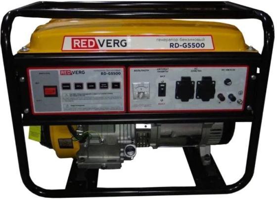 Генератор RedVerg RD-G5500 5.5кВт электрогенератор redverg rd g5500
