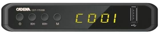 Фото - Ресивер DVB-T2 Cadena CDT-1753SB (TC) черный tv тюнер cadena cdt 1815sbd черный