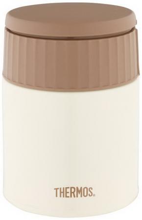Термос THERMOS JBQ-400-MLK 0,40л белый коричневый термос thermos jbq 400 mlk 0 4l