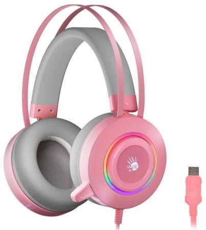 Фото - Наушники с микрофоном A4 Bloody G521 розовый 2.3м мониторные USB оголовье (G521 ( PINK )) наушники a4 bloody m660 черный красный