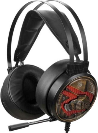 Фото - Наушники с микрофоном A4 Bloody G650S черный/бронзовый 2м мониторные USB оголовье (G650S) наушники a4tech hu 7p черный