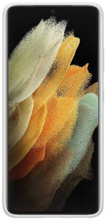 Фото - Чехол (клип-кейс) Samsung для Samsung Galaxy S21 Ultra Silicone Cover светло-серый (EF-PG998TJEGRU) чехол клип кейс samsung galaxy note 20 ultra silicone cover белый ef pn985twegru