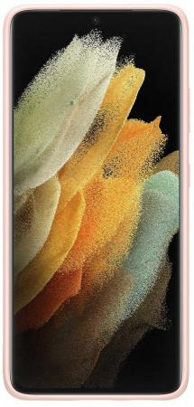 Фото - Чехол (клип-кейс) Samsung для Samsung Galaxy S21 Ultra Silicone Cover розовый (EF-PG998TPEGRU) чехол клип кейс samsung galaxy note 20 ultra silicone cover белый ef pn985twegru