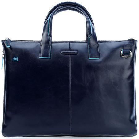 Сумка для ноутбука Piquadro Blue Square CA4021B2/BLU2 синий натур.кожа кожаные сумки piquadro ca4021b2 r
