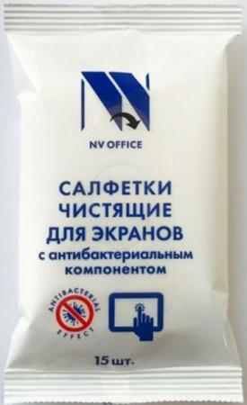 Фото - Антибактериальные салфетки для экранов NV-Office, мягкая упаковка, 153х129 мм,15шт антибактериальные салфетки для поверхностей nv office мягкая упаковка 180х110 мм 15шт