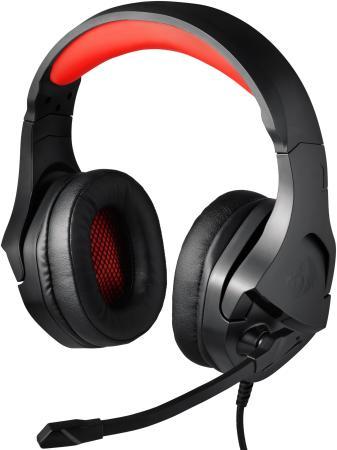 Игровая гарнитура Theseus красный + черный, кабель 2 м Redragon недорого