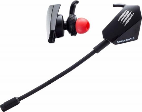 Игровые мобильные наушники Mad Catz E.S. PRO+ черные (3.5 мм jack, 13.5 мм неодимовые магниты, 32 Ом, 20 ~ 20000 Гц, микрофон)