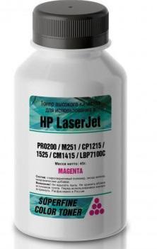 Фото - Тонер HP Color LJ PRO200/M251/CP1215/1525/CM1415/LBP7100C бутылка 40 гр magenta SuperFine тонер hp lj p2035 2055 бутылка 1000 гр superfine