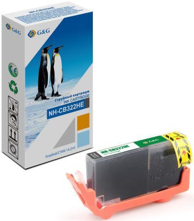 Картридж струйный G&G NH-CB322HE фото черный (14.2мл) для HP Photosmart B8553/C5324/C5370/C5373/C5380/C5383
