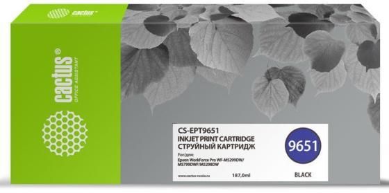 Фото - Картридж струйный Cactus CS-EPT9651 черный (187мл) для Epson WorkForce Pro WF-M5299DW/M5799DWF компактный фотопринтер epson workforce wf 100w