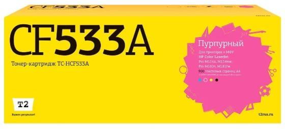 Фото - TC-HCF533A Картридж T2 для HP Color LaserJet Pro M154a/M154nw/M180n/M181fw (900 стр.) пурпурный, с чипом tc h42x картридж t2 для hp laserjet 4250 4350 20000 стр с чипом