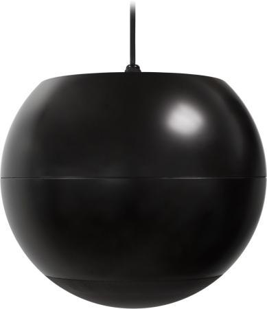 """Акустическая система ECLER [eUC106BK] сферический громкоговоритель,6,5"""" НЧ динамик, 0.5"""" ВЧ динамик,40 Вт 8Ом, и 70/100V трансформатор. Цвет чёрный"""