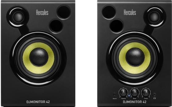 Колонки Hercules DJMonitor 42 2.0 Черный велозамок oxford hercules