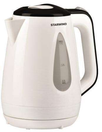 Фото - Чайник электрический Starwind SKP3213 1.7л. 2200Вт белый/черный (корпус: пластик) чайник электрический starwind skg2213 2200вт зеленый и черный