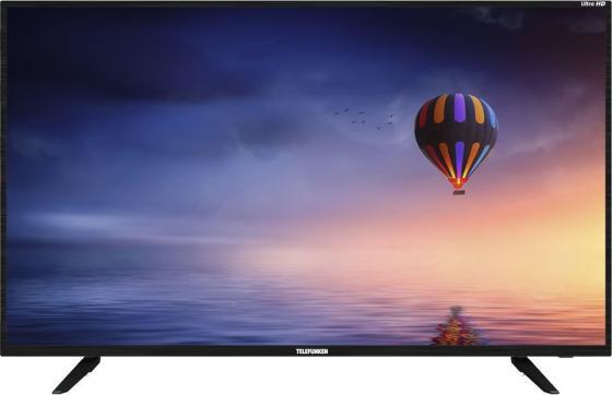 Фото - Телевизор LED 43 Telefunken TF-LED43S08T2SU черный 3840x2160 50 Гц Wi-Fi Smart TV 3 х HDMI 2 х USB RJ-45 CI+ тумба под телевизор manhattan rennes тв с led подсветкой black gloss black matte pa16253 484 х 2170 х 448