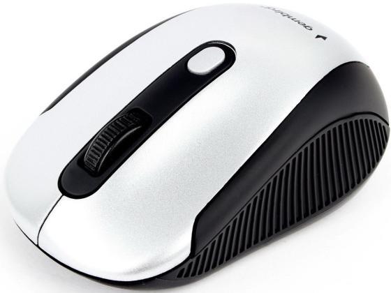 Мышь беспроводная Gembird MUSW-420-4 серебристый чёрный USB + радиоканал беспроводная мышь gembird musw 207w white usb белый