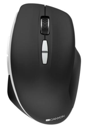 Фото - Canyon 2.4 GHz Wireless mouse ,with 7 buttons, DPI 800/1200/1600, Battery: AAA*2pcs,Black,72*117*41mm, 0.075kg canyon2 4ghz wireless optical mouse with 4 buttons dpi 800 1200 1600 1 additional cover penguin