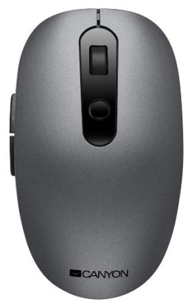 Фото - Canyon 2 in 1 Wireless optical mouse with 6 buttons, DPI 800/1000/1200/1500, 2 mode(BT/ 2.4GHz), Battery AA*1pcs, Grey, 65.4*112.25*32.3mm, 0.092kg canyon2 4ghz wireless optical mouse with 4 buttons dpi 800 1200 1600 1 additional cover penguin