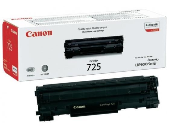 Тонер-картридж Canon 725 для i-SENSYS LBP6000, i-SENSYS LBP6020, i-SENSYS LBP6020B, i-SENSYS LBP6030, i-SENSYS LBP6030B, i-SENSYS LBP6030w, i-SENSYS MF3010 1600стр Черный