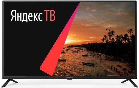 Фото - Телевизор LED Hyundai 43 H-LED43FU7001 Яндекс черный/Ultra HD/60Hz/DVB-T/DVB-T2/DVB-C/DVB-S2/USB/WiFi/Smart TV (RUS) ресивер dvb c hyundai h dvb840 черный