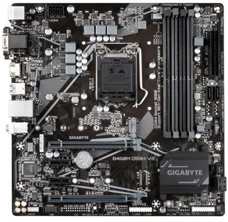 Фото - Материнская плата GigaByte B460M DS3H V2 Socket 1200 H470 4xDDR4 2xPCI-E 16x 2xPCI-E 1x 4 mATX Retail материнская плата gigabyte b460m ds3h