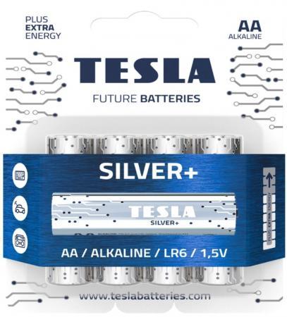 Батарейки Tesla SILVER AA+4ks Alkaline AA (LR06, пальчиковая, блистер) 4 ks блистер /4
