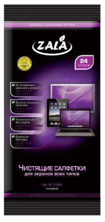 Фото - Салфетки бытовые ZL 77224 для экранов всех типов, 24 шт салфетки влажные для экранов favorit offic f130001 screen clean 100шт