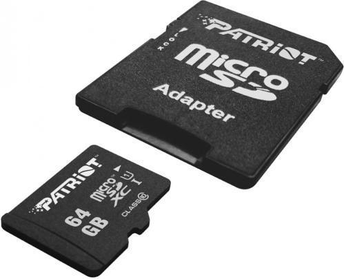 Фото - Флеш карта microSDHC 64GB Class10 Patriot (PSF64GMCSDHC10) LX MICRO SDHC with adaptor мойка patriot gt550 comfort 322306550