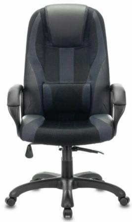 Кресло компьютерное BRABIX PREMIUM Rapid GM-102, НАГРУЗКА 180 кг, экокожа/ткань, черное/серое, 532105 кресло компьютерное brabix premium rapid gm 102 нагрузка 180 кг экокожа ткань черное красное 532107
