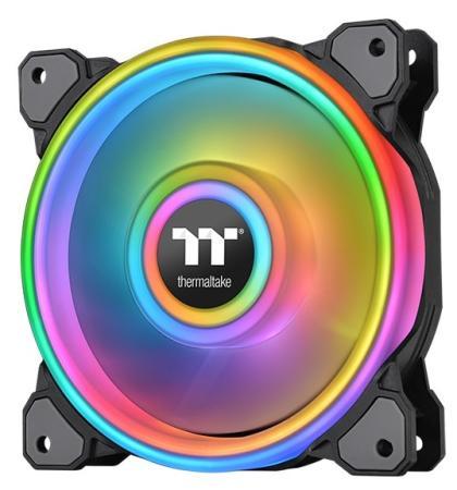 Riing Quad 14 RGB Radiator Fan TT Premium Edition Single Pack [CL-F089-PL14SW-C] Thermaltake водяное охлаждение thermaltake floe riing rgb 280 tt premium edition cl w167 pl14sw a