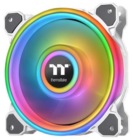 Riing Quad 12 RGB Radiator Fan TT Premium Edition Single Pack [CL-F100-PL12SW-C] Thermaltake водяное охлаждение thermaltake floe riing rgb 280 tt premium edition cl w167 pl14sw a