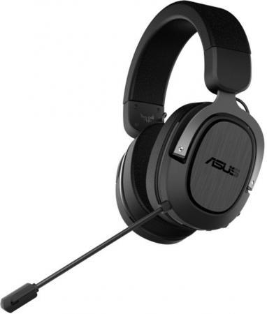Игровые наушники ASUS TUF Gaming H3 WL чёрно-серые (2.4 ГГц, 7.1 виртуально, 50мм, неодимовые магниты, 32 Ом, 20~20000 Гц, микрофон, USB-C, PC, Mac, PS4, Nintendo Switch, Xbox One, 90YH02ZG-B3UA00)
