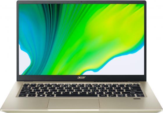 Ультрабук Acer Swift 3X SF314-510G-7412 14 1920x1080 Intel Core i7-1165G7 1024 Gb 16Gb Bluetooth 5.0 WiFi (802.11 b/g/n/ac/ax) Intel Iris Xe Graphics золотистый Windows 10 Home NX.A10ER.007 ультрабук acer swift 3x sf314 510g 7734 14 ips intel core i7 1165g7 2 8ггц 16гб 1тб ssd intel iris xe max 4096 мб windows 10 nx a0yer 007 синий
