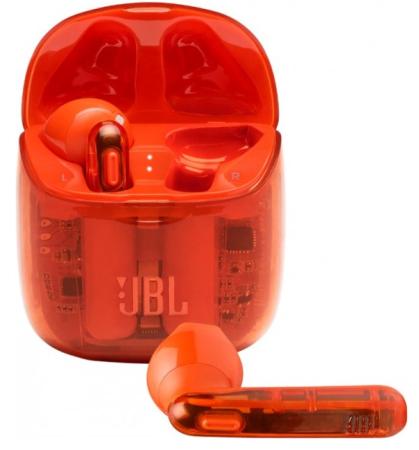 Наушники JBL Наушники беспроводные JBL Tune 225 TWS, ghost orange