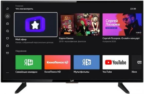 Фото - Телевизор 43 LEFF 43F520T черный 1920x1080 60 Гц Wi-Fi Smart TV 3 х HDMI 2 х USB RJ-45 Bluetooth CI+ телевизор 49 lg 49lv761h черный 1920x1080 50 гц smart tv wi fi hdmi usb rj 45 bluetooth widi