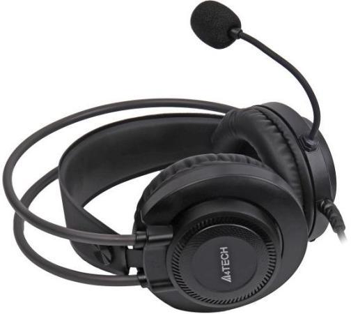Фото - Наушники с микрофоном A4Tech Fstyler FH200U серый 2м накладные USB оголовье (FH200U GREY) наушники a4tech hu 7p черный