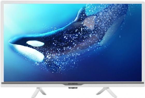 Фото - Телевизор LED 24 Hyundai H-LED24FS5002 белый 1366x768 60 Гц Wi-Fi Smart TV 2 х HDMI USB RJ-45 CI+ телевизор led 31 5 bq 32s02b черный 1366x768 50 гц wi fi smart tv usb rj 45 2 х hdmi ci