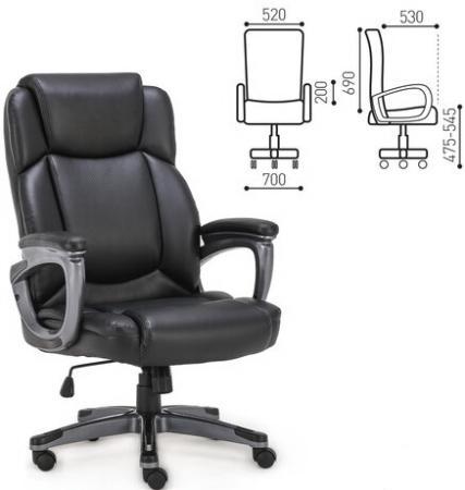 Фото - Кресло офисное BRABIX PREMIUM Favorite EX-577, пружинный блок, рециклированная кожа, черное, 531934 кресло офисное brabix status hd 003 рециклированная кожа хром черное 531821