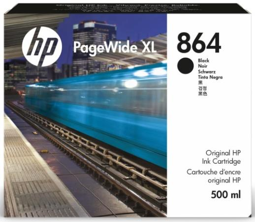 Фото - Cartridge HP 864 для PageWide XL 4200, черный, 500 мл контейнер для очистки hp 841 pagewide xl