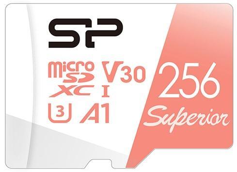 Фото - Флеш карта microSD 256GB Silicon Power Superior A1 microSDXC Class 10 UHS-I U3 100/80 Mb/s (SD адаптер) карта памяти adata 256gb microsdxc class 10 uhs i a1 100 25 mb s sd адаптер ausdx256guicl10a1 ra1