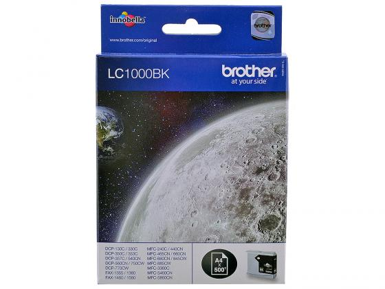 Картридж Brother LC1000BK для MFC-240C DCP-130C DCP-330C черный 5x ink cartridge lc10 lc37 lc51 lc57 lc960 lc970 lc1000 for brother dcp 130c dcp 135c mfc 235c mfc 240c printer inkjet