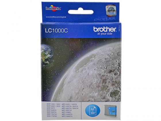 Картридж Brother LC1000C для MFC-240C DCP-130C DCP-330C голубой 5x ink cartridge lc10 lc37 lc51 lc57 lc960 lc970 lc1000 for brother dcp 130c dcp 135c mfc 235c mfc 240c printer inkjet