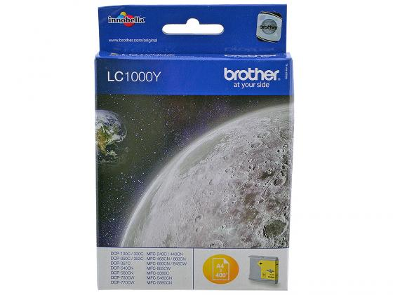 Картридж Brother LC1000Y для MFC-240C DCP-130C DCP-330C желтый 5x ink cartridge lc10 lc37 lc51 lc57 lc960 lc970 lc1000 for brother dcp 130c dcp 135c mfc 235c mfc 240c printer inkjet