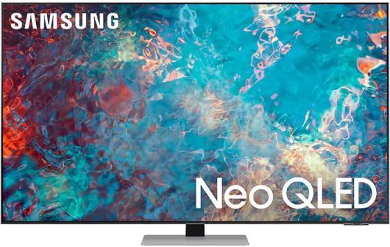 Фото - Телевизор LED 65 Samsung QE65QN85AAUXRU серый 3840x2160 120 Гц Wi-Fi Smart TV 4 х HDMI 2 х USB RJ-45 Bluetooth телевизор led 65 sony kd65x81jr черный 3840x2160 60 гц wi fi smart tv 4 х hdmi rj 45 ci 2 х usb bluetooth