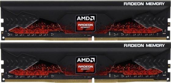 64GB AMD Radeon™ DDR4 3200 DIMM R9 Gamers Series Black Gaming Memory R9S464G3206U2K Non-ECC, CL16, 1.35V, Heat Shield, Kit (2x32GB), RTL (183559)