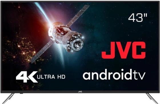 Фото - Телевизор LED 43 JVC LT-43M790 серый 3840x2160 60 Гц Wi-Fi Smart TV 3 х HDMI 2 х USB RJ-45 CI телевизор 32 jvc lt 32m350 черный 1366x768 60 гц 2 х hdmi vga usb